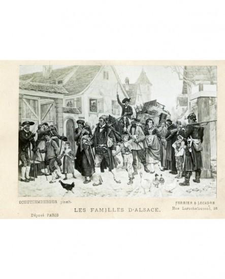 Les familles d\'Alsace. défilé. militaire