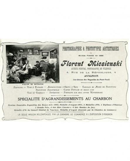 carte publicitaire du photographe Florent miesienski