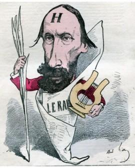 Caricature du poéte et photographe amateur Vacquerie