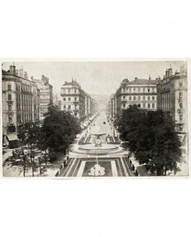 Nouvelle rue Impériale à Lyon (après 1870, rue de la République)