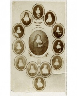 Mosaïque de religieuses d'Annecy en 1867