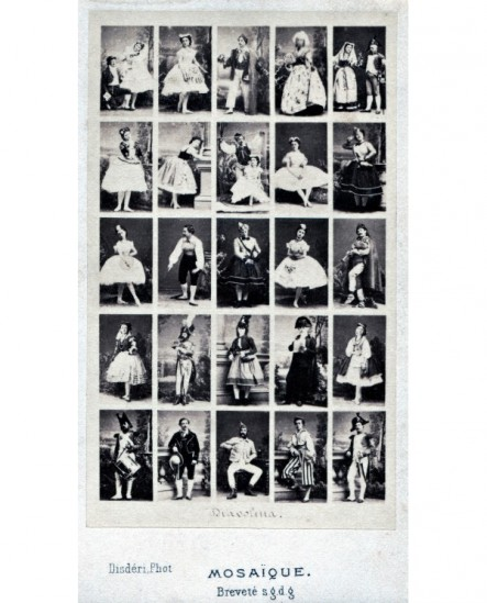 Mosaique d'acteurs en costumes