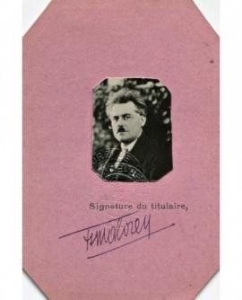 portrait du photographe Henri Malorey