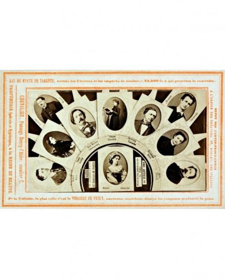 Carte programme du théâtre Gaite du 19 juillet 1867