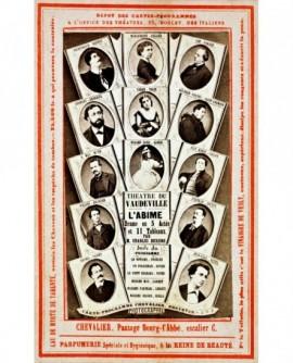 Carte programme du théâtre du Vaudeville pour la pièce L\'Abime de Dickens