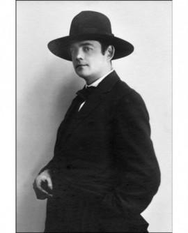 Le photographe Gustave Bazire photographié par le peintre Lucien Goubert (autoportrait)