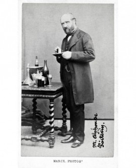 Portrait de l'inventeur photographe Alphonse Poitevin