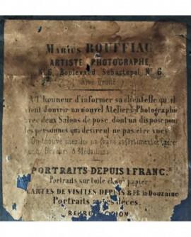 dos de daguerréotype du photographe Marius Rouffiac