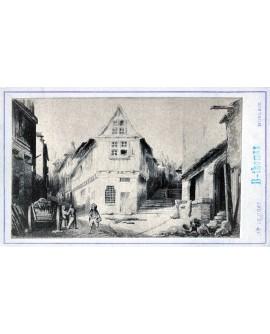 Gravure de la ville de Morlaix