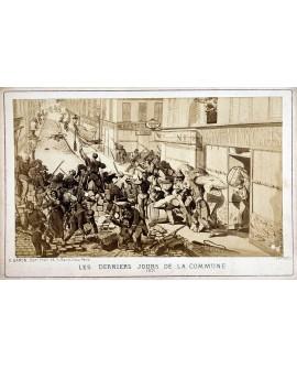 Militaires derrière barricade. Les derniers jours de la commune. 1871