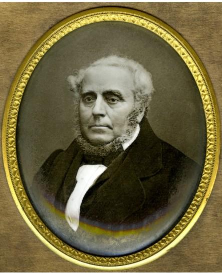 Portrait d'un homme sur médaillon de porcelaine. 1878
