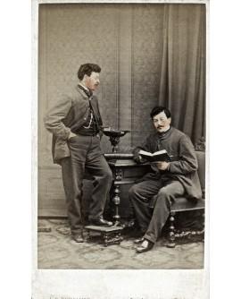 Autoportrait et montage de l'assistant du photographe Baudelaire en 1865