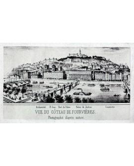 Lyon. Vue du coteau de Fourvieres