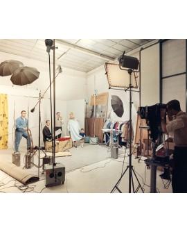 Prise de vues au studio de René Basset