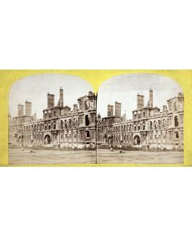 Hôtel de Ville de Paris détruit durant la Commune. 1871