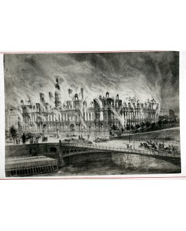 Incendie de l'hôtel de ville durant la Commune (1871)