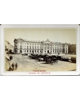 Toulouse. Façade du Capitole. 1880