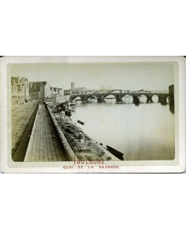 Toulouse. Quai de la Daurade. 1880