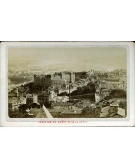 Lyon. Jonction du Rhône et de la Saône