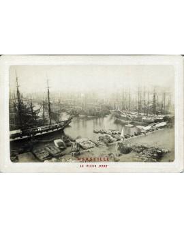 Marseille. Le vieux port. bateaux. 1880