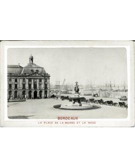Bordeaux. Place de la Bourse et la Rade. 1880