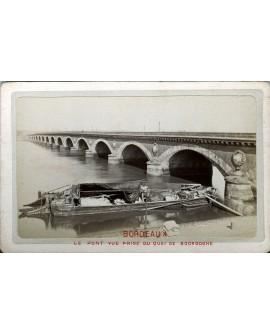 Bordeaux. Le pont. 1880