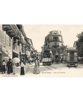Vue de Aix-les Bains, rue de Genève