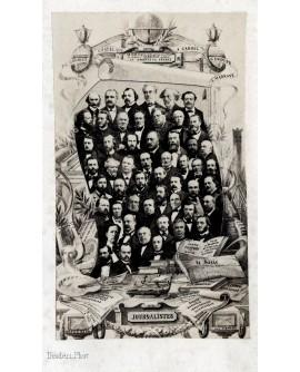 Mosaïque des portraits de journalistes