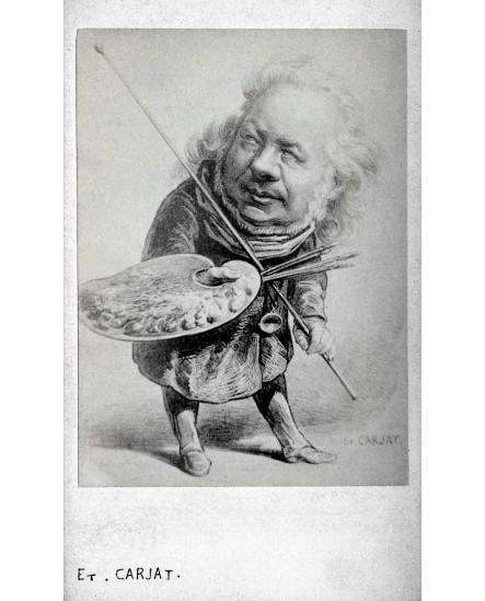 Auguste Preault, sculpteur. Caricature de Carjat