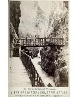 Couple dans la Gorge du Trient à Vernayaz en 1881