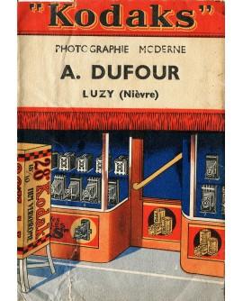 Pochette publicitaire du photographe A. Dufour.