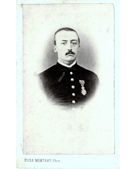 Alphonse Dugenne, militaire avec décoration. Armée du Mexique