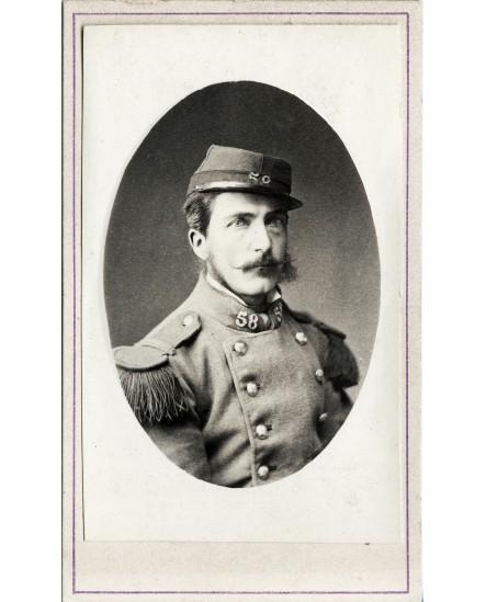 Portrait d'un militaire du 58 émetteur régiment
