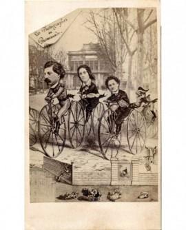 autoportrait photographes sur grands bis (vélo). Reynouls