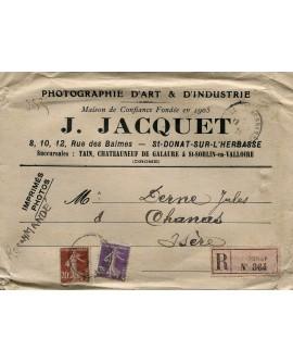 Courrier de M. Jacquet à M. Jules Dernes