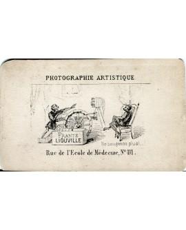 Dos d'une photo carte du photographe Liouville
