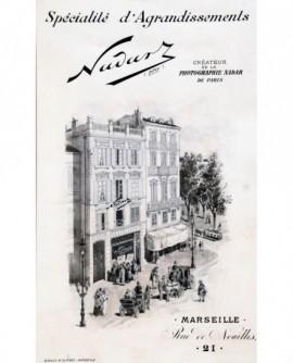 Carte publicitaire et tarif du photographe Nadar