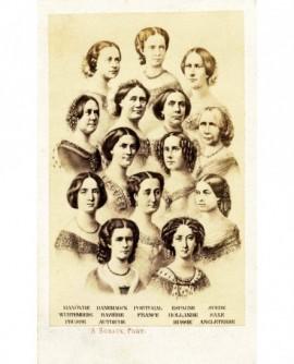 mosaïque de reines et épouses de souverains (1867)