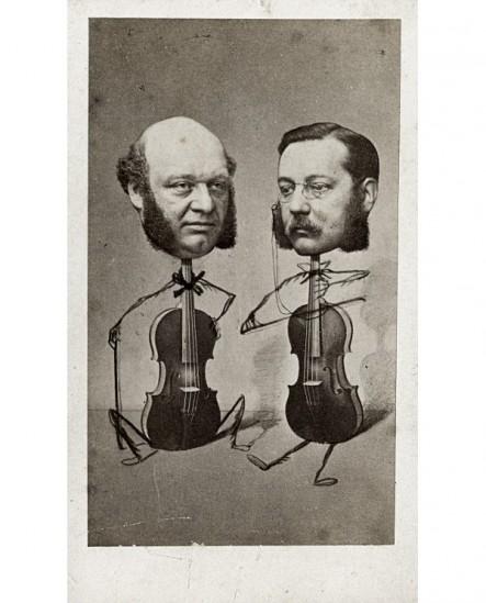 Caricature de deux violonistes