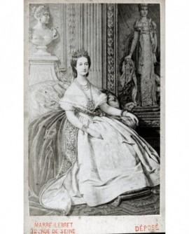 Portrait peint de l'impératrice Eugénie