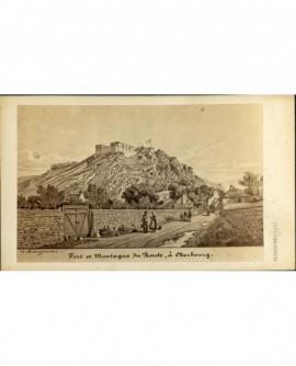 Fort et Montagne du Roule à Cherbourg (gravure signée A. Maugendre)
