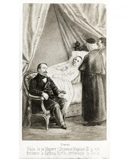 Visite de Napoléon III au Cardinal Morlot (mourant).