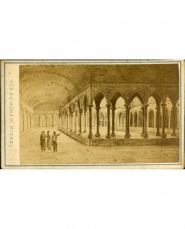 Cloître du Mont Saint-Michel (gravure)