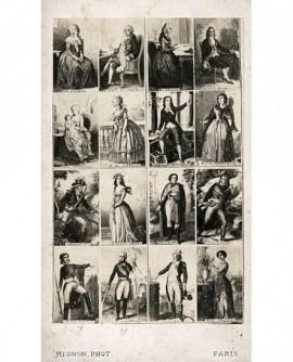 Mosaïque personnages évolution française