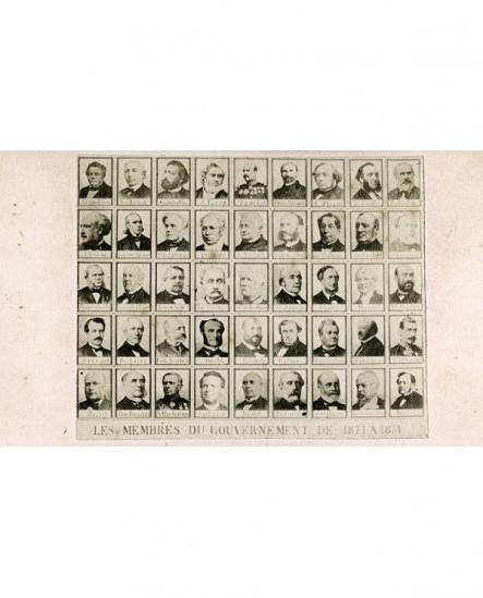 Mosaïque portraits du gouvernement 1871 à 1874