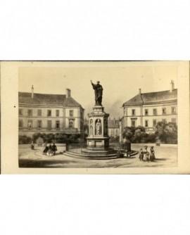 la statue de St Bernard à Dijon (gravure)