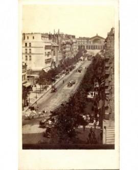 La gare de l'Est et le boulevard de Strasbourg (1867)