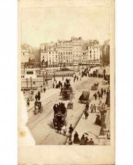 Paris, le Pont neuf et le square du Vert Galant(1867)
