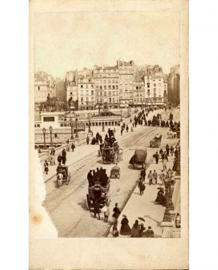 Paris, le Pont neuf et le square du Vert Galant (1867)