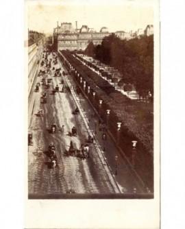 Paris: rue de Rivoli et jardin des Tuileries (1867)
